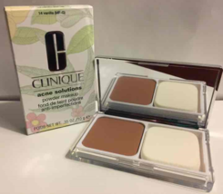 NIB Clinique Acne Solutions Powder Makeup 14 Vanilla (MF-G) Dry Combo Oily Skin - $14.99