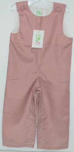 Ellie O Gingham Full Lined Longall Size 12 Months Color Red