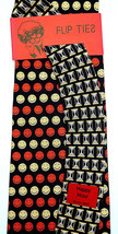 Happy Hour Mens Necktie Vicky Davis Silk Flip Tie Smiley Face Black Neck... - $19.75