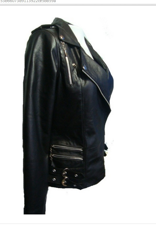 New leather jacket Coat for womens in black color