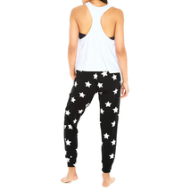 Terez Women Silver Star Foil French Terry Jogger image 4