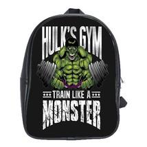 Backpack School Bag Superheroes Marvel Movie Hulk Gym Monster Game Anime Fantasy - $33.00