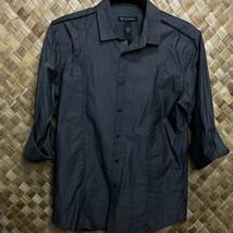 INC International Concepts Mens Small Black Gray Convertible Long Short ... - $24.75