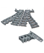 6 pcs Building Blocks Rail Tracks for Train Straight&Curved& furcal&soft... - $39.90