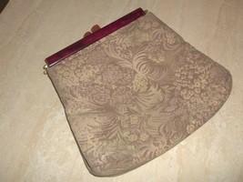 Vintage 1930s Red Orange Bakelite Frame Tapestry Fabric Purse! Good Cond... - $24.14