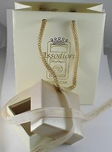 18K GOLD FIGARO CHAIN 2.5 MM WIDTH 25 IN LENGTH ALTERNATE NECKLACE MADE IN ITALY image 2