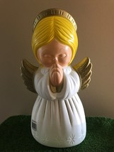 """New Christmas 18"""" Grand Venture Angel with Gold Wings Table/Yard Blow Mo... - $59.39"""