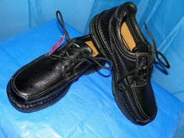 BASS BLACK PEBBLE LEATHER MEN'S SHOES SPRUCE- 1747-001 SIZE 9M NEW WITH TAG - $54.45
