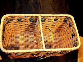 Tender Heart Treasures Woven Handmade Basket AA18-1359 Vintage 1995 image 6