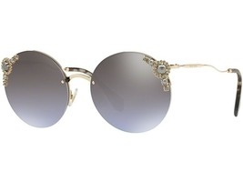 NEW Miu Miu Sunglasses MU 52T 52TS WO4 2H2 Gold/Gradient Violet Brown - $213.82