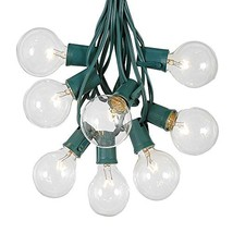 G50 Globe Outdoor String Lights With 25 Clear Globe Bulbs By Novelty Lig... - $25.35