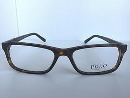 New Ralph Lauren PH 2143 5003 55mm Havana Rectangular Men's Eyeglasses Frame  - $129.99