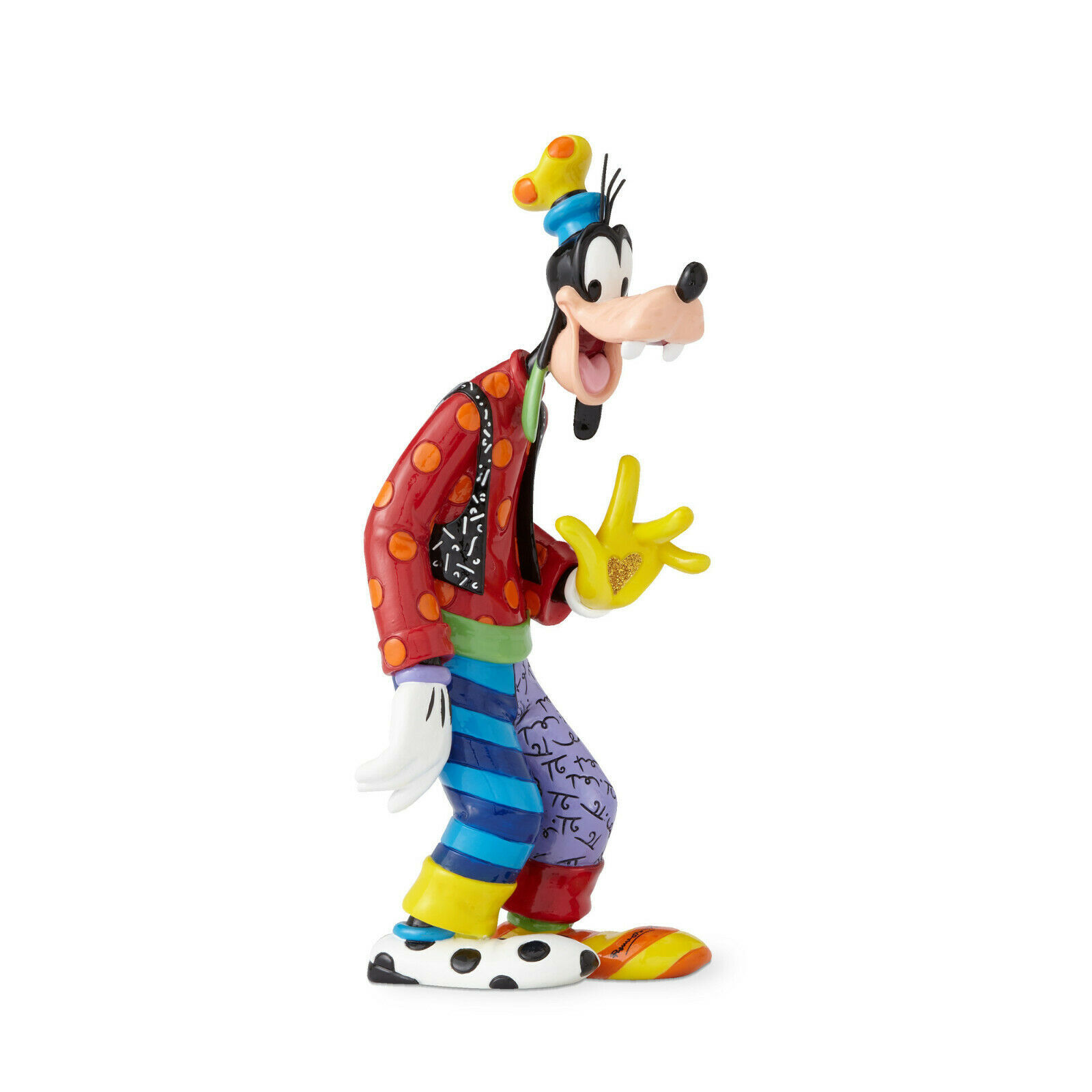 "Primary image for 10"" High  Disney Britto 85th Anniversary Goofy Figurine Multicolor Hand Painted"