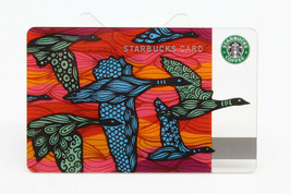 Starbucks Coffee 2010 Gift Card Flying Geese Birds Colorful Fall Zero Ba... - $12.77