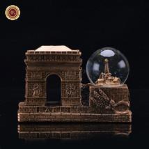 WR Vintage Paris Triumphal Arch Snow Globe Dome France Landmark Tourism ... - $20.52