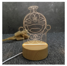 3D LED Lamp Creative Wood grain Night Lights Novelty Illusion Night Illusion 8 - $12.40