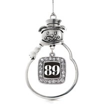 Inspired Silver Number 89 Classic Snowman Holiday Decoration Christmas Tree Orna - $14.69