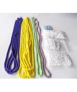 E 6/0 4mm Glass Seed Bead Lot Jewelry Supplies White Blue Yellow Mix Spa... - $14.00