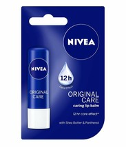 Nivea Original Care Caring Lip Balm 4.8 gm Long Lasting Moisturiser Free... - $7.51+
