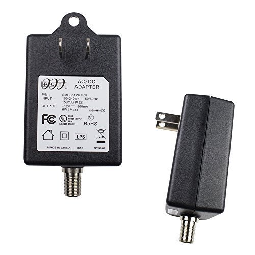 Slim PCT Wall Mountable Power Adapter, Input 100-240 Output 12 V 500mA for CATV