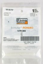Lot of 4 V/RO80 Schluter Rondec 5/16 or 8mm Q80ae PVC Profile Connector SEALED image 3
