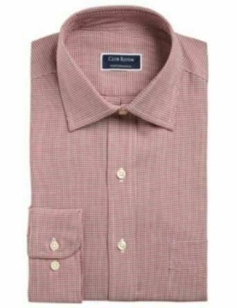 Club Room Men's Dress Shirt Regular Fit Performance Size 18.5X34-35