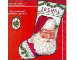 RARE Christmas Stocking Kit Kris Kringle Needle Treasures Cross Stitch Santa NEW - $103.90