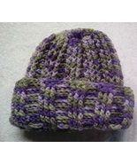 Womens Soft Purples Winter Crocheted Hat New - $5.00