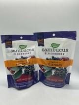 2 Natures Way Sambucus Elderberry Vitamin C 24 Lozenges Wild Cherry - $12.20