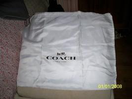 """COACH HANDBAG  DUST BAG  19"""" X 15"""" white Satin Finish black logo - $9.89"""