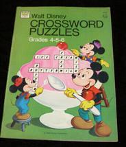 Walt Disney Crossword Puzzles book whitman 1974 unused - $15.99