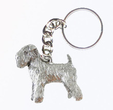 Wheaten Terrier Dog Keychain Keyring Harris Pewter Made USA Key Chain Ring - $9.48