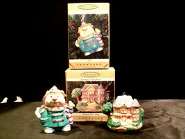 Hallmark Keepsake Christmas Ornaments Cookie Jar Friends and Victorian Home Teap