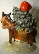 Vaillancourt Folk Art Father Christmas on a donkey  signed. by Judi! Last one! image 4