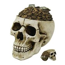 Pacific Giftware PT Money Top Skull Box Container Home Tabletop Decorati... - $39.59