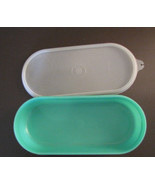 Tupperware Green Jadite Grater Container 1375-B & 1376-9 Seal -2 pieces -Vintage - $3.23