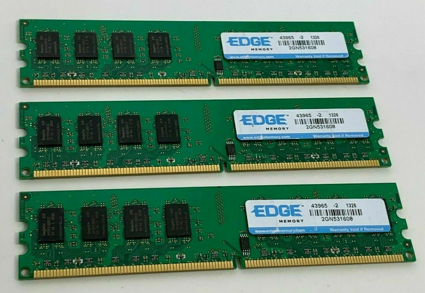 Primary image for 3X Edge Memory 2025316-0F12G-SP Boards 2GN531608