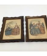 Vintage Miroir Des Modes French Fashion Print Ladies Art Paris- Framed- ... - $33.65