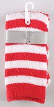 Charter Club Womens Super Soft Red Stripe Santa Fuzzy Butter Socks Size 9-11 NEW image 2