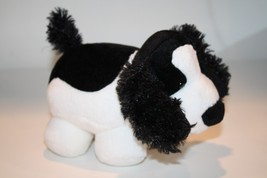 "Russ PUDGEES DOG 8"" Plush Stuffed Black White Spaniel Soft Fat Stuffed P... - $12.59"