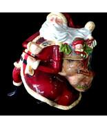 Unique Santa Figurine Cookie Jar ~ Certified International Susan Winget ... - $20.00