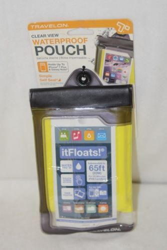 Travelon 12505 Yellow Clear View Floating Waterproof Pouch