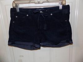 7 For All Mankind Dark Blue Draw String Shorts Size 26 Women's EUC - $22.68