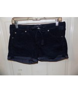 7 For All Mankind Dark Blue Draw String Shorts Size 26 Women's EUC - $21.84