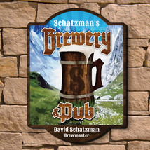 Alpine Brewery & Pub Custom Wooden Sign - $49.95 - $79.95