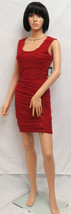 GUESS Rust Raised Lines Sleeveless Zipper Side Dress 10 NWT - $69.00