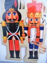Shackman Vintage Style Nutcracker Garland 10 Ft Cardboard Cutouts W Stri... - $17.82