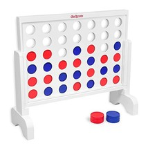 GoSports Giant Wooden 4 in a Row Game - 2 Foot Width - Huge 4 Connect Fa... - $62.20
