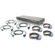 IOGEAR Network GCS1808KIT 8-Port USB PS/2 Combo VGA with Cables KVM Swit... - $436.60