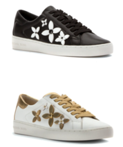 Michael Kors MK Women's Premium Leather Lola Flower Fashion Sneakers Shoes
